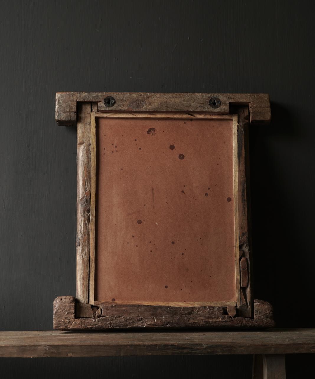 Authentischer Holzspiegel Indien-5