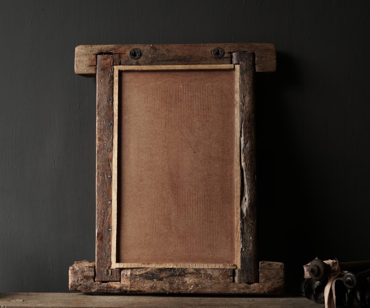 Authentischer Holzspiegel Indien-3