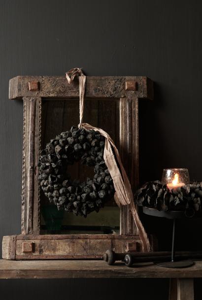 Authentieke houten spiegel India