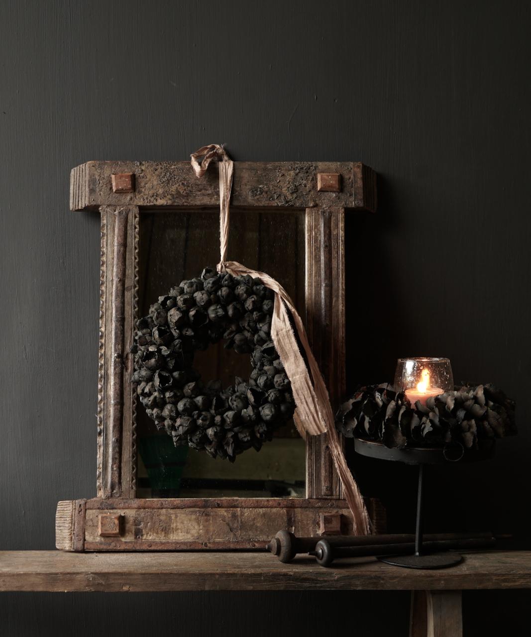 Authentischer Holzspiegel Indien-1
