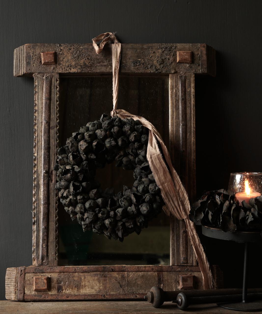 Authentischer Holzspiegel Indien-6