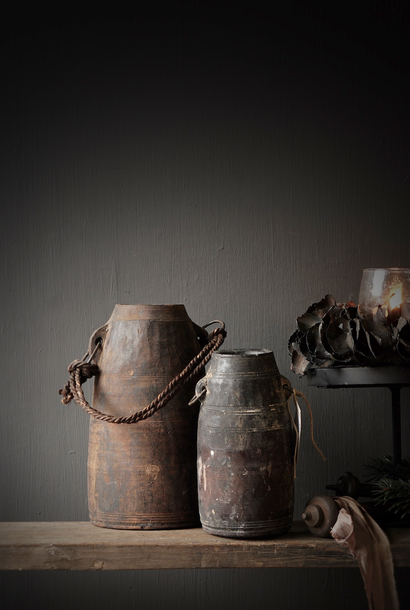 Small Old wooden Nepalese Jug