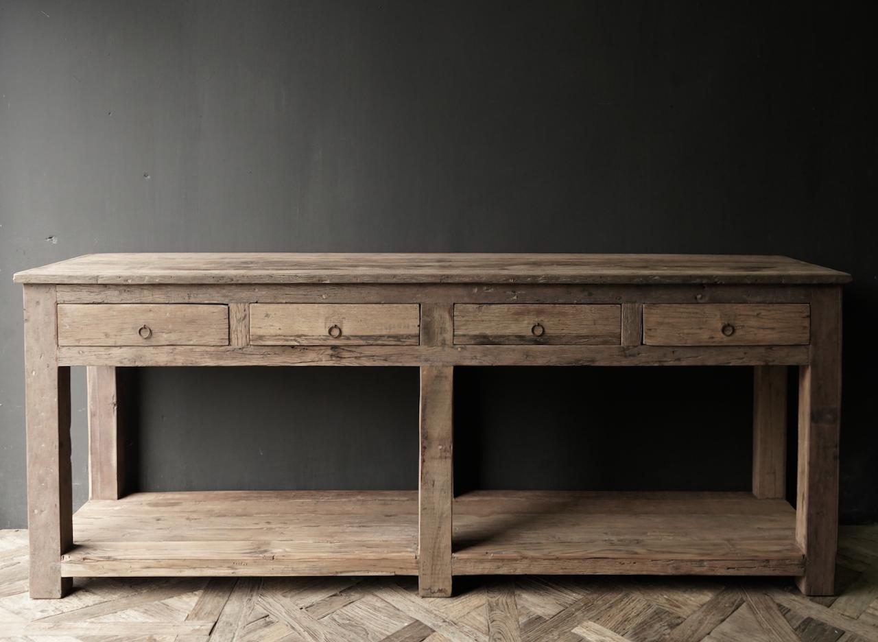 Beistelltisch oder Wandtisch mit vier Schubladen-4