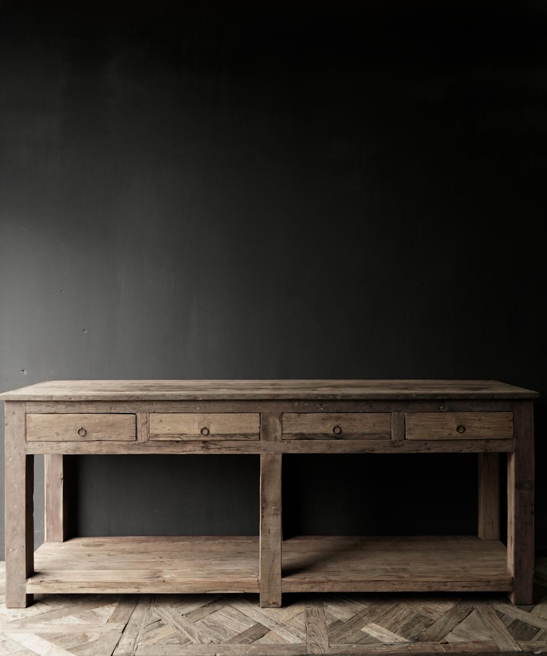 Beistelltisch oder Wandtisch mit vier Schubladen-3