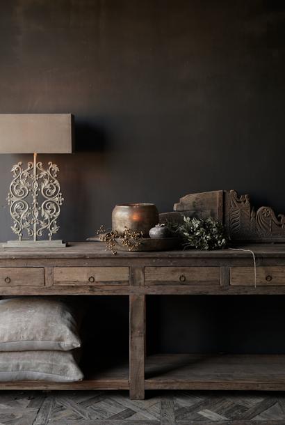 Beistelltisch oder Wandtisch mit vier Schubladen