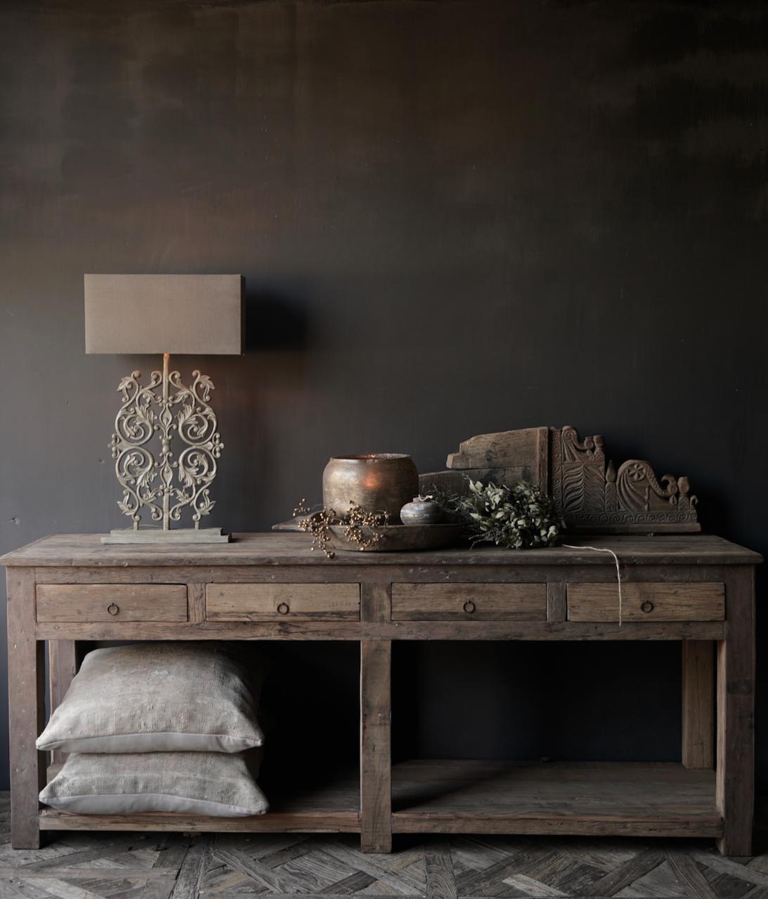 Beistelltisch oder Wandtisch mit vier Schubladen-6