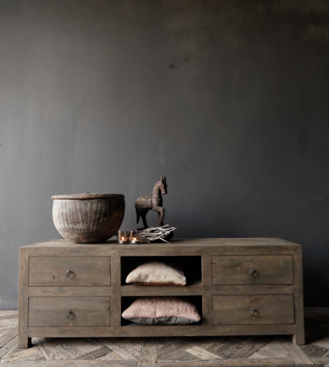 Tv Meubel / dressoir van oud  hout-5