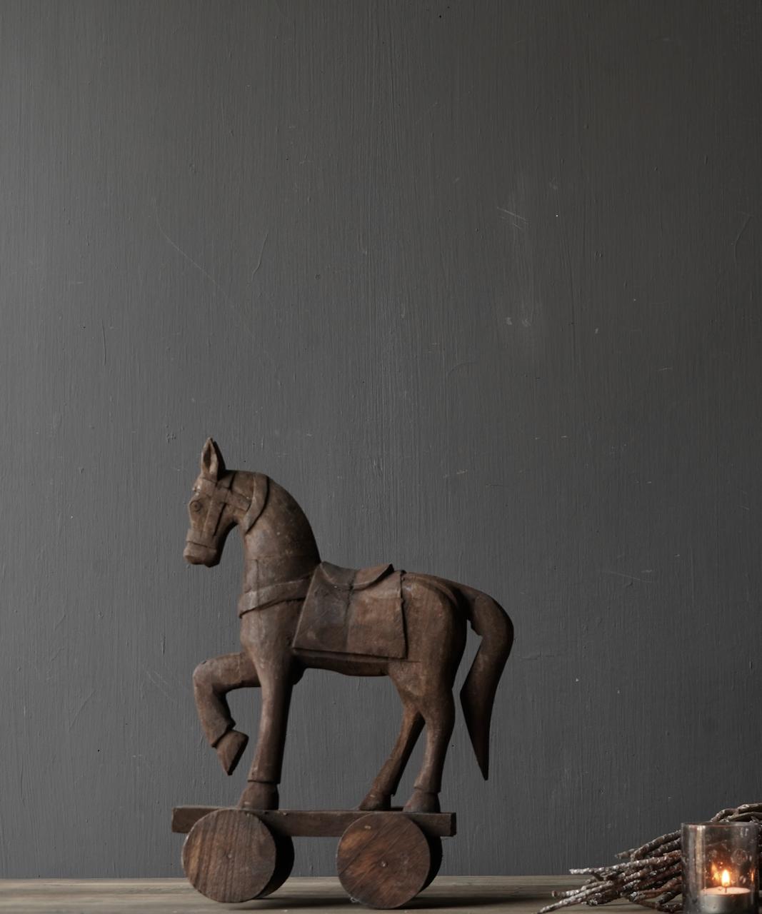 Houten paardje handgemaakt van oud hout-5