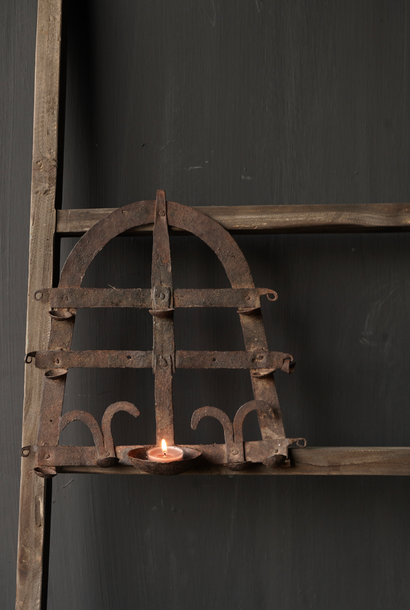Old iron wall candlestick