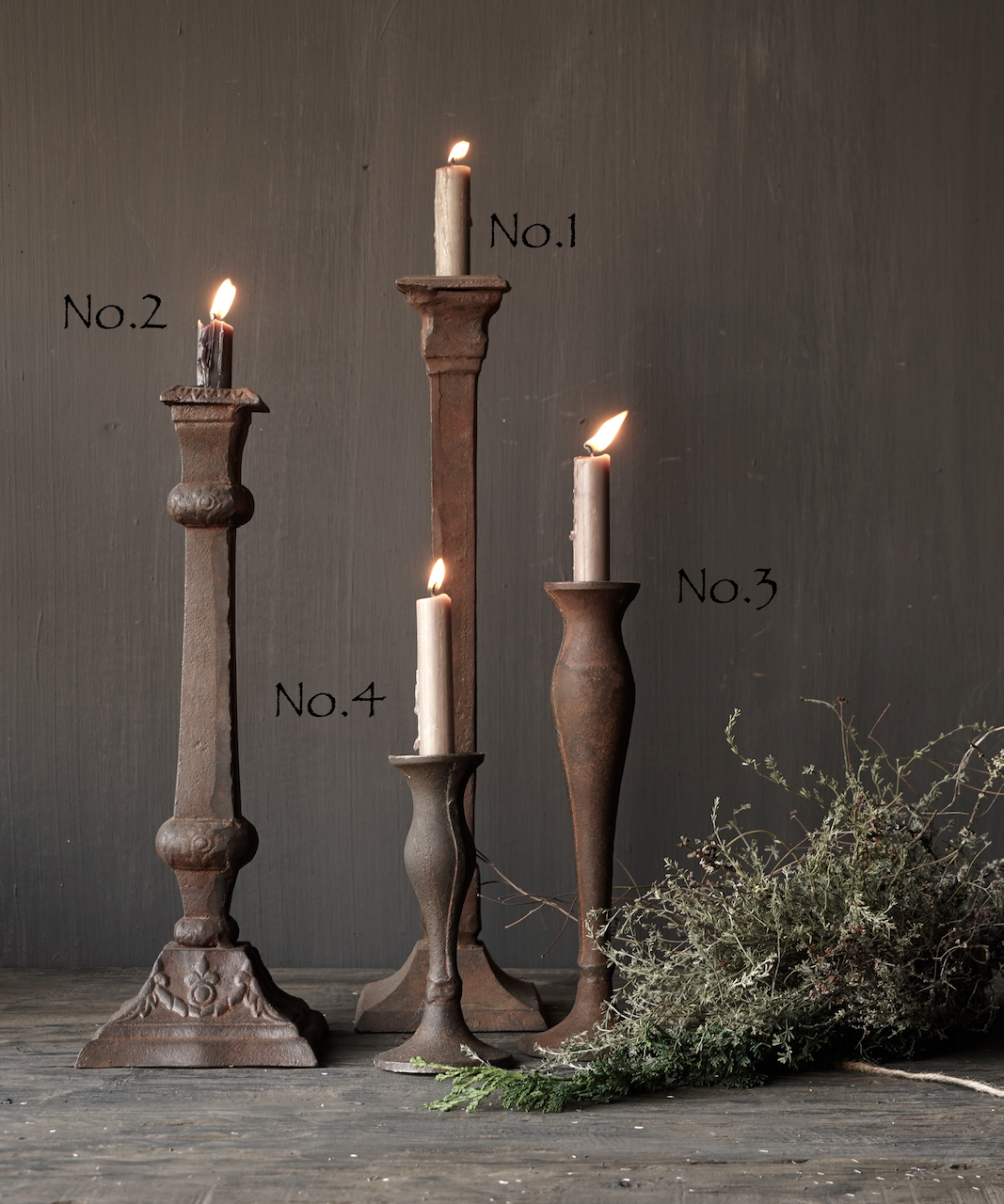 Cast iron candlestick-2