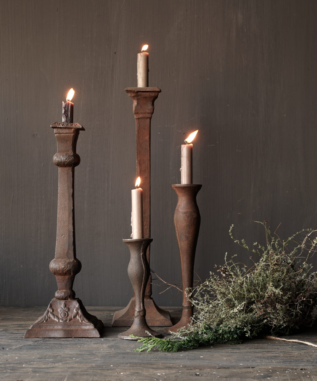 Cast iron candlestick-1