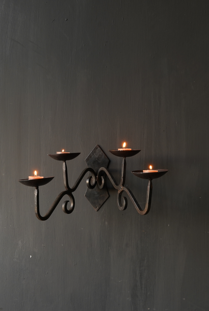 Iron hanging or wall candlestick
