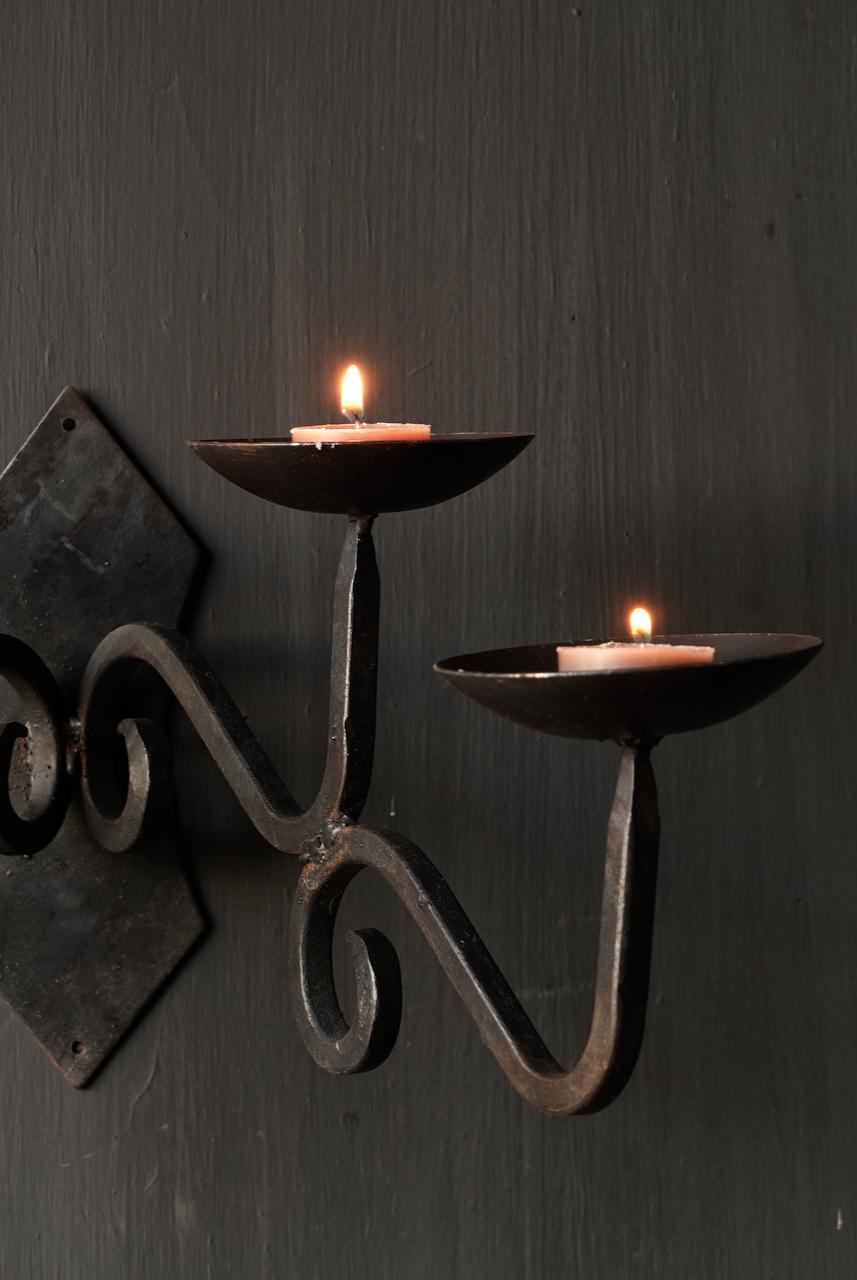 Eisen hängender Kerzenhalter-4