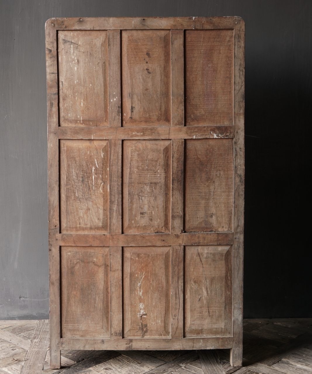 Unique Old Indian two-door cabinet-4