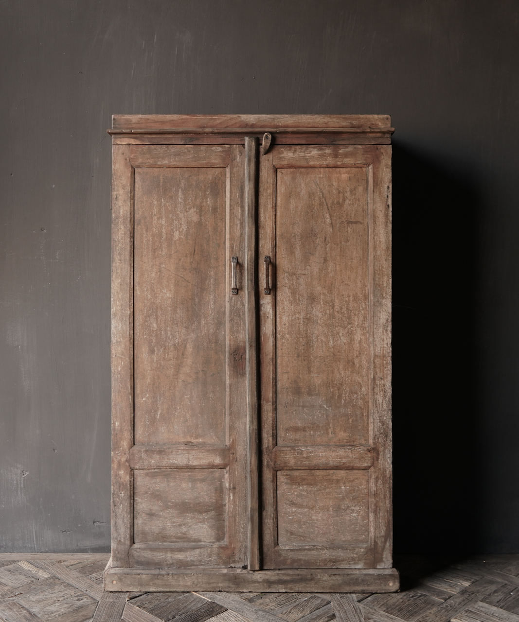 Unique Antique Old Indian two-door cupboard-2