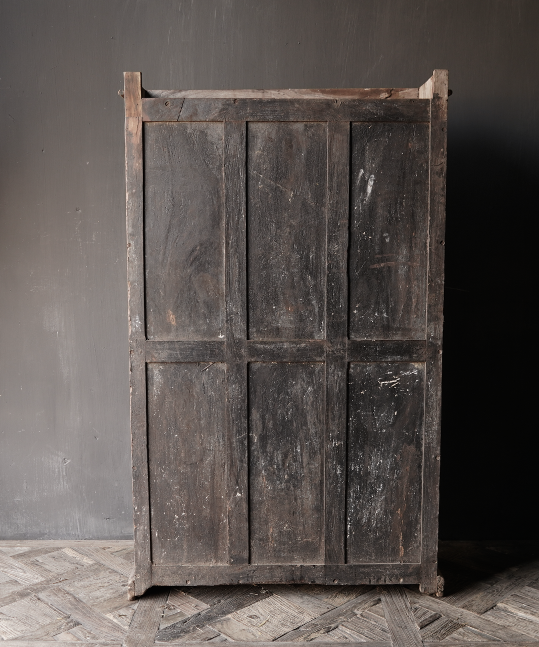 Unique Antique Old Indian two-door cupboard-3