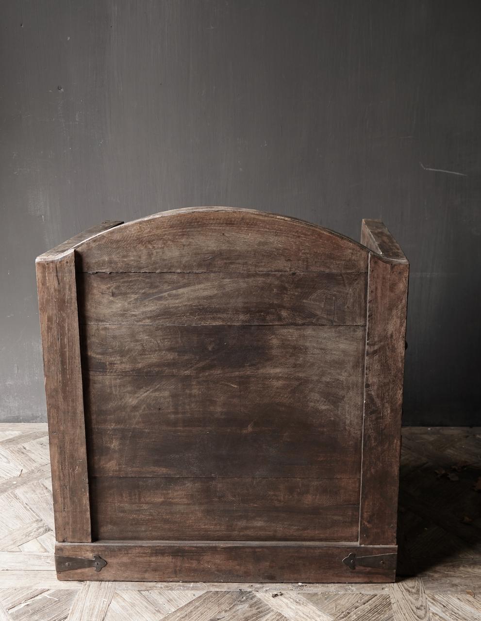 Uniek Antiek houten indische stoel-7