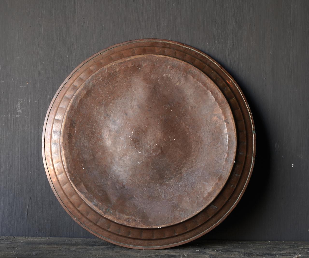 Authentische alte handbesetzte Bronzeplatte-3