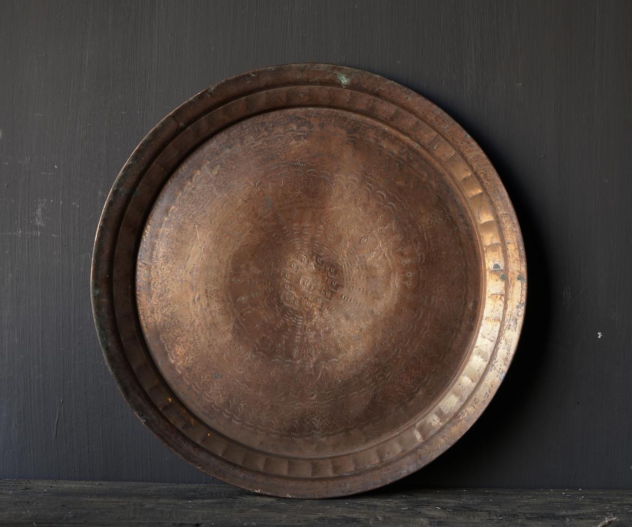 Authentische alte handbesetzte Bronzeplatte-5
