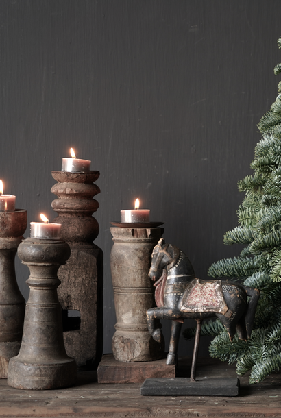 Old Wooden Candlesticks from old ornament