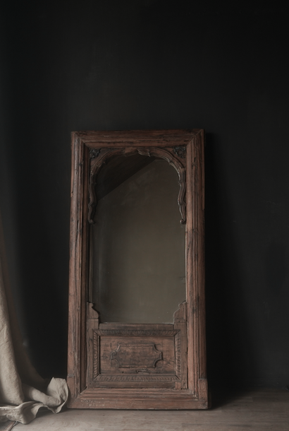 Spiegel gemaakt van oud Authentiek Luik