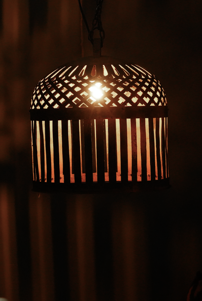Iron Cage Lamp incl Fitting