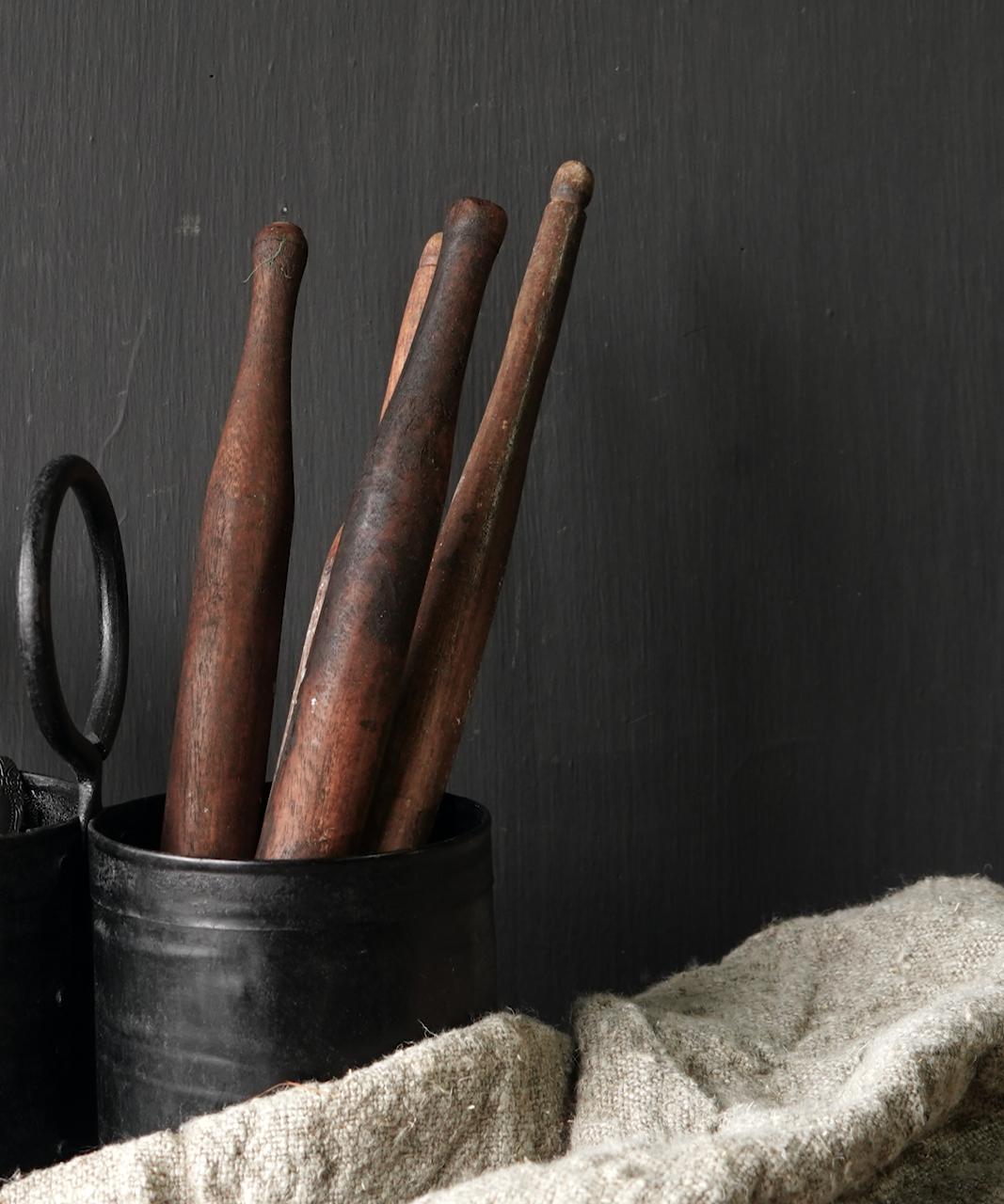 Klein houten chapati deeg rolletje-3