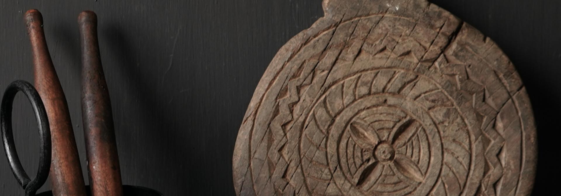 Klein houten chapati deeg rolletje