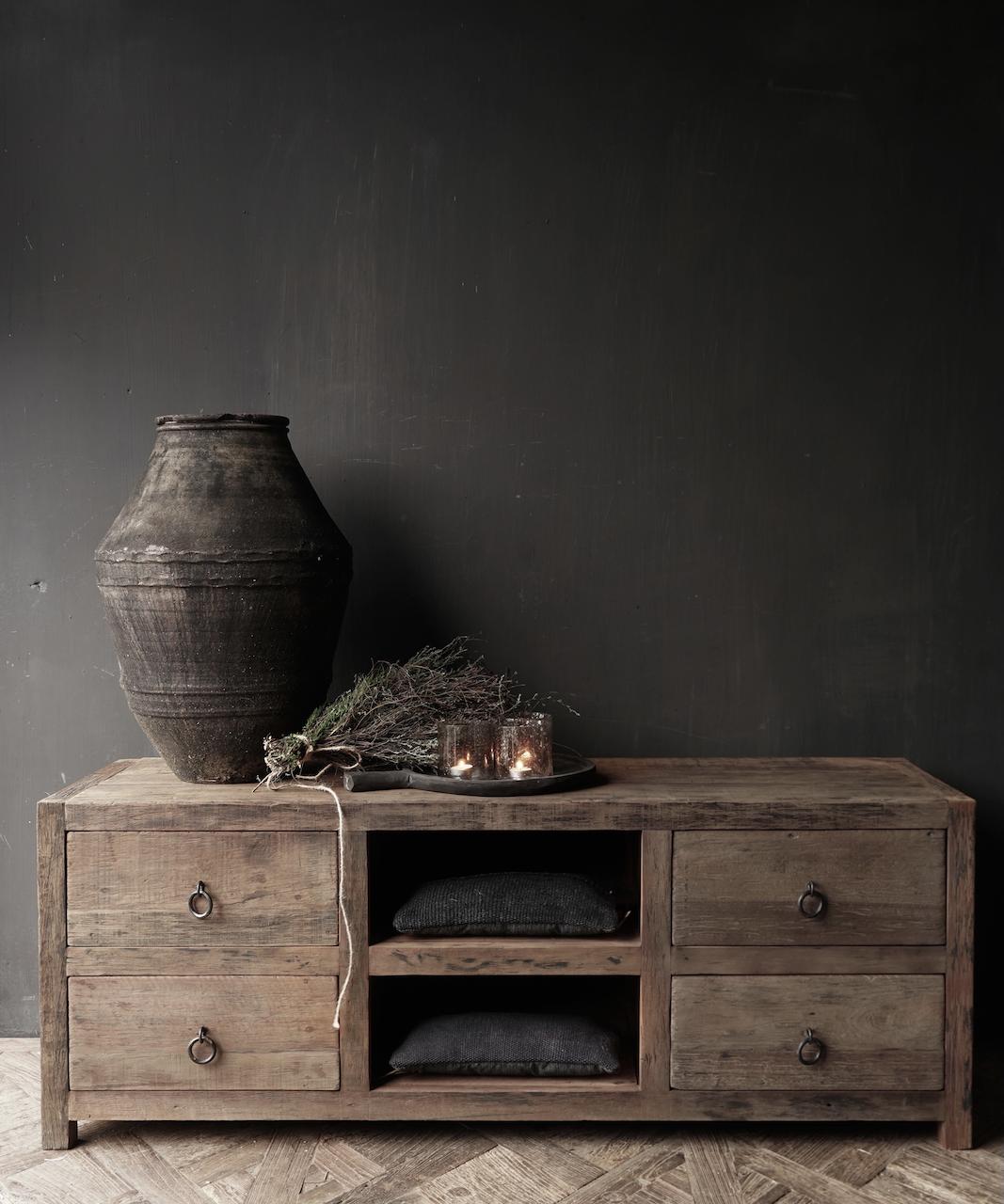 TV Furniture / sideboard of old wood-1