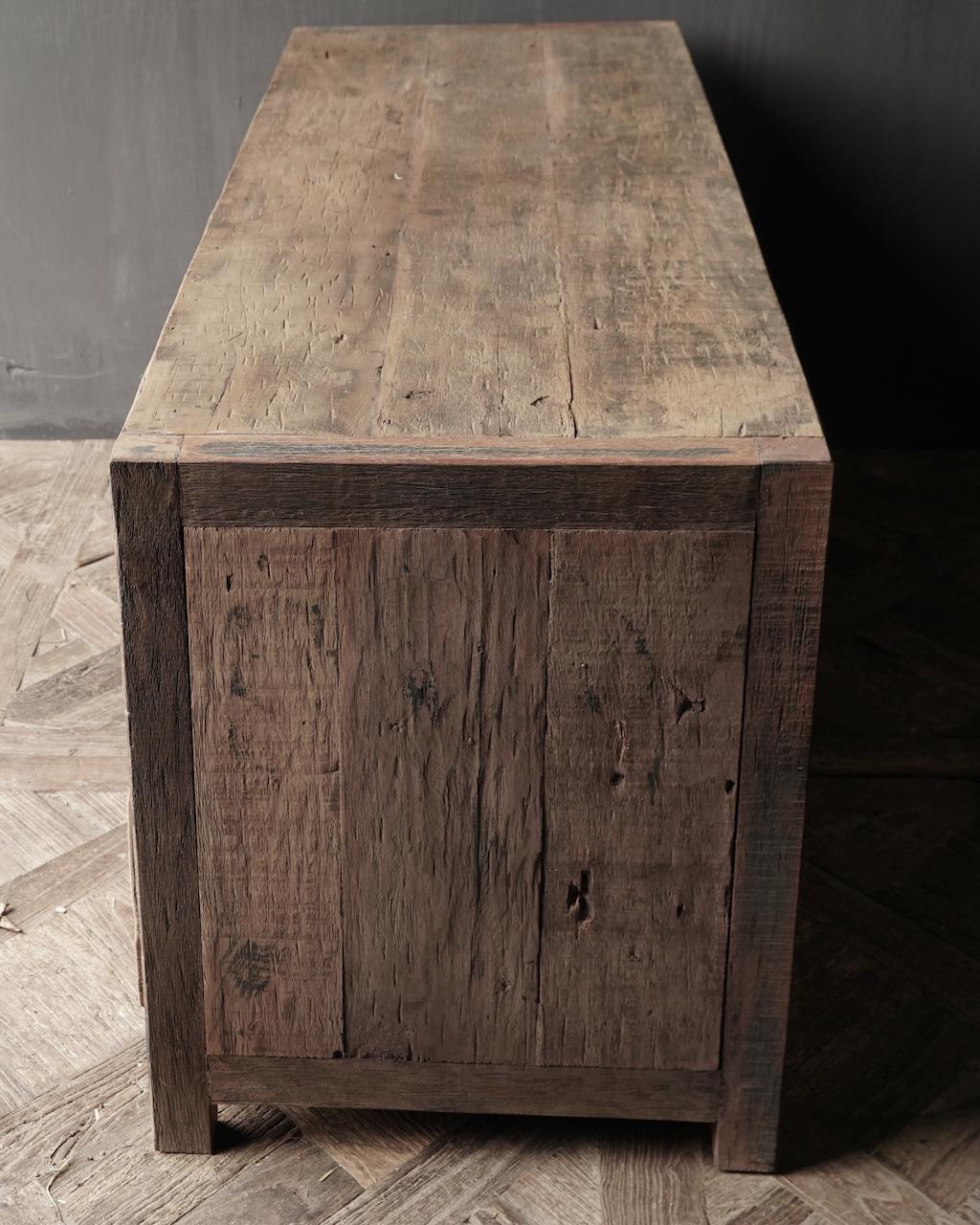 TV Furniture / sideboard of old wood-3