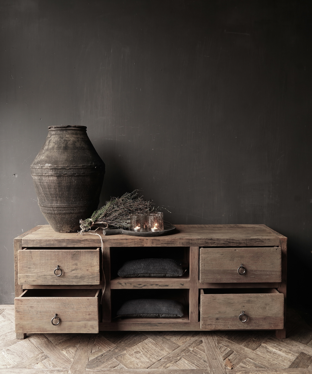 TV Furniture / sideboard of old wood-5