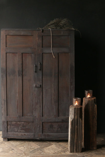 * Reserved * Unique Antique Old Indian two-door cupboard
