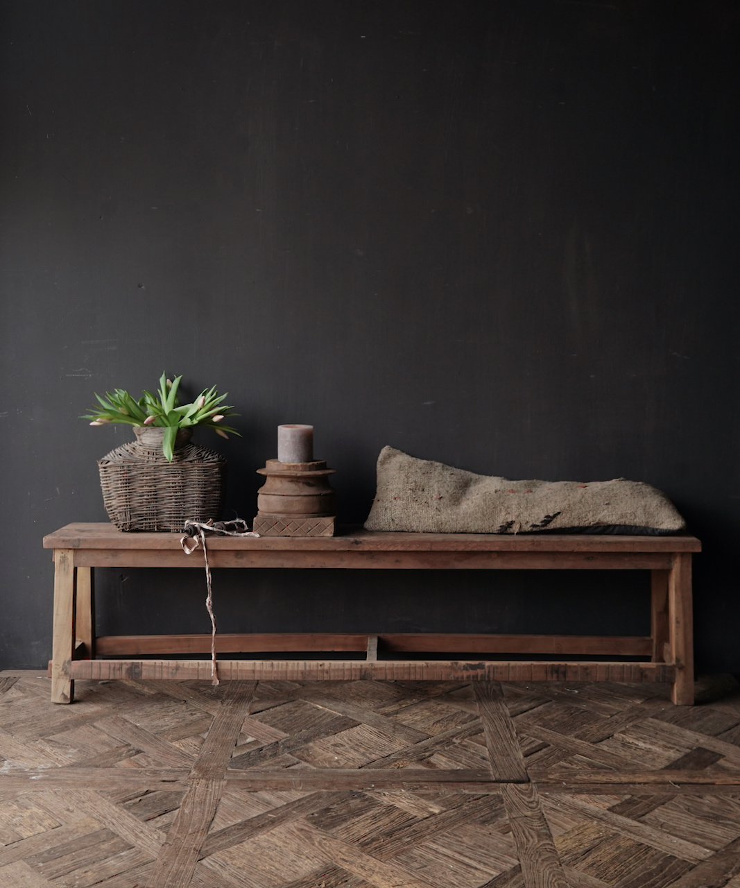Bank gemaakt van oud hout-1