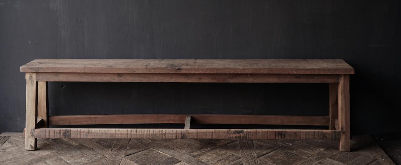 Bank gemaakt van oud hout-5