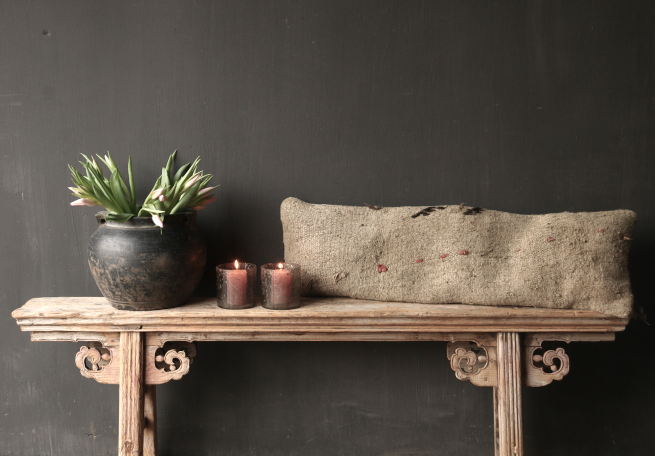Authentic old wooden bench-2