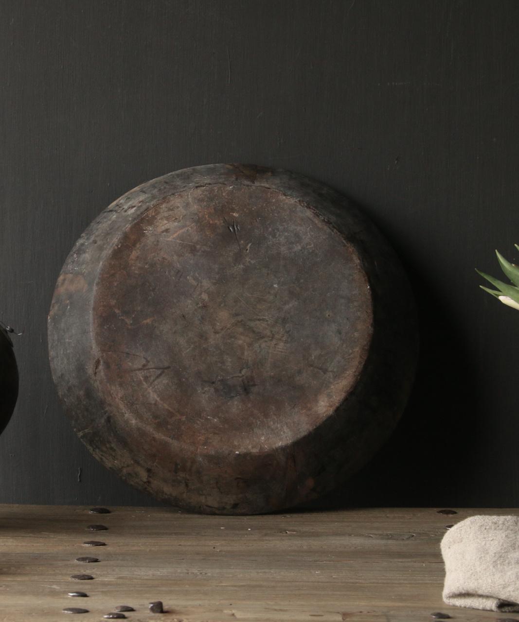 Authentische alte nepalesische Holzschale-3