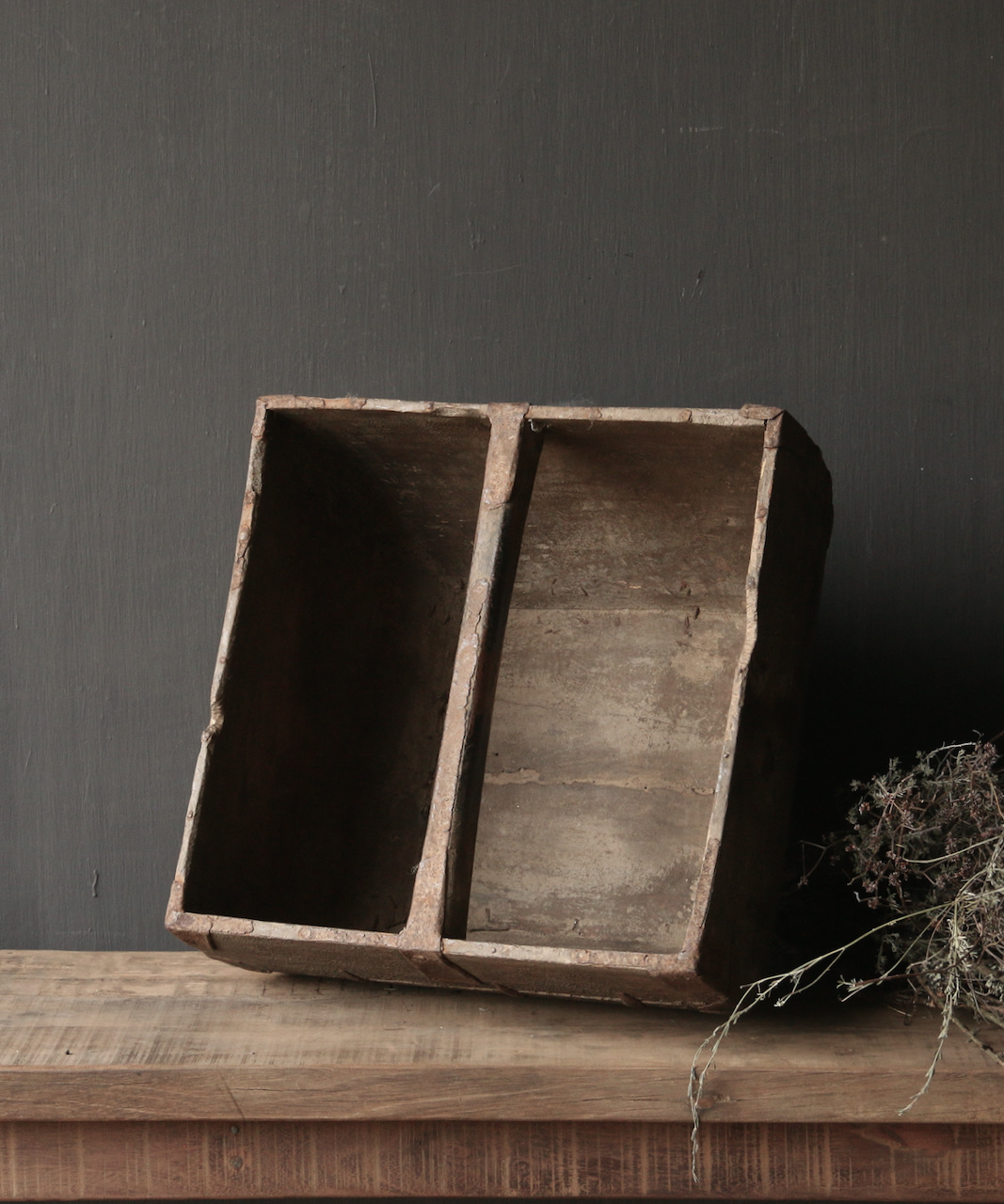 Old wooden seed tray / rice tray-3