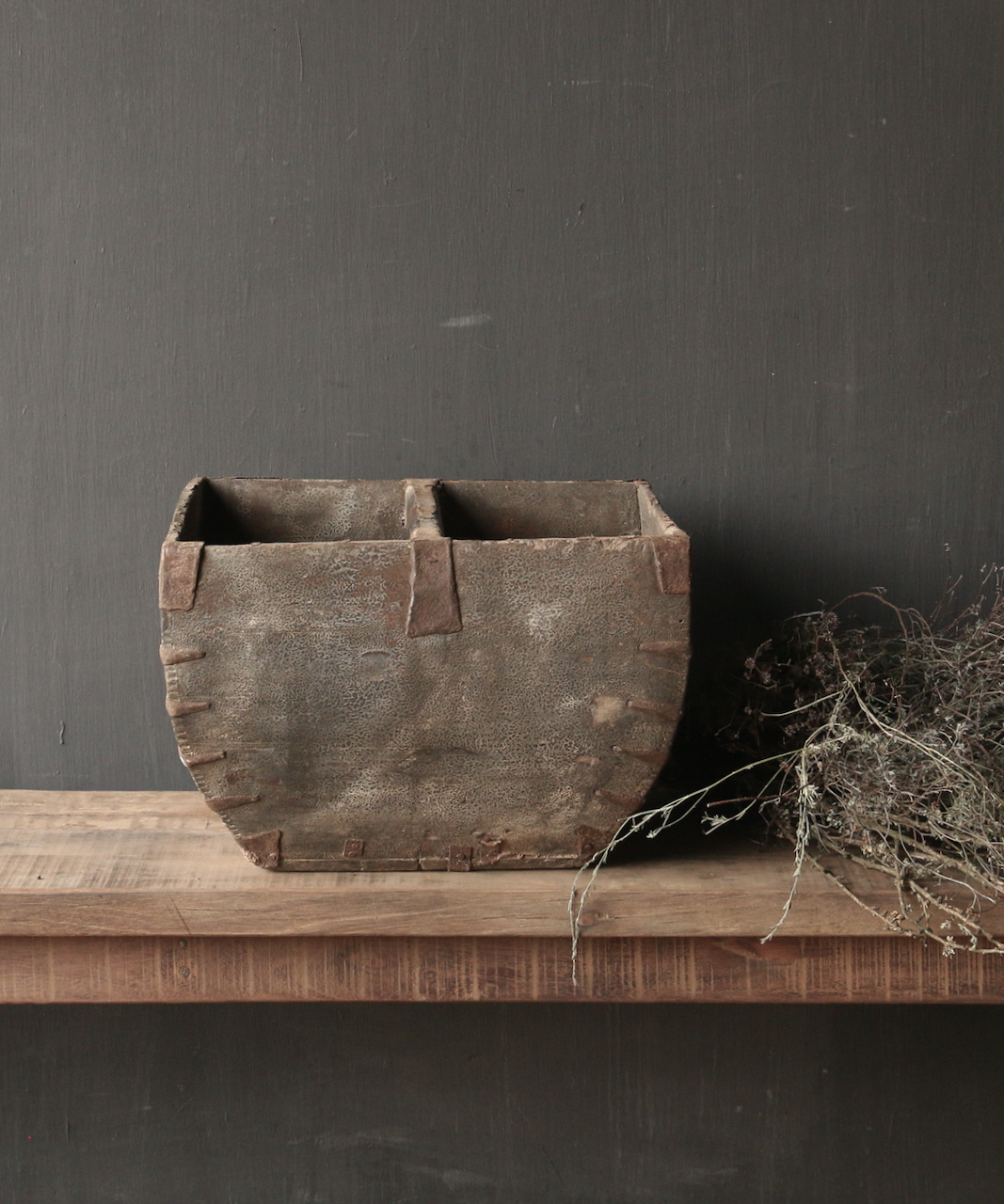 Old wooden seed tray / rice tray-6