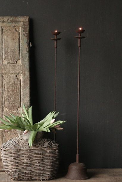 Iron Floor Candlestick