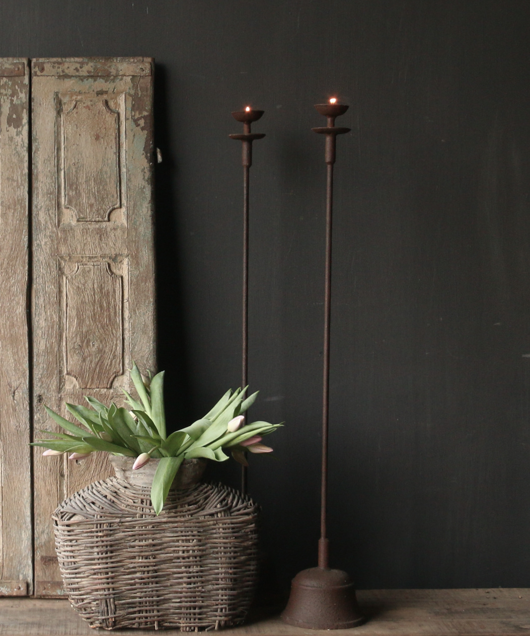 Iron Floor Candlestick-1
