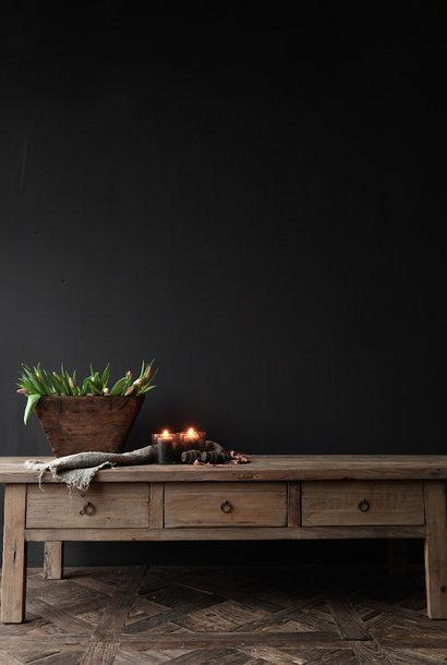 Oud authentiek houten Salontafel met lades