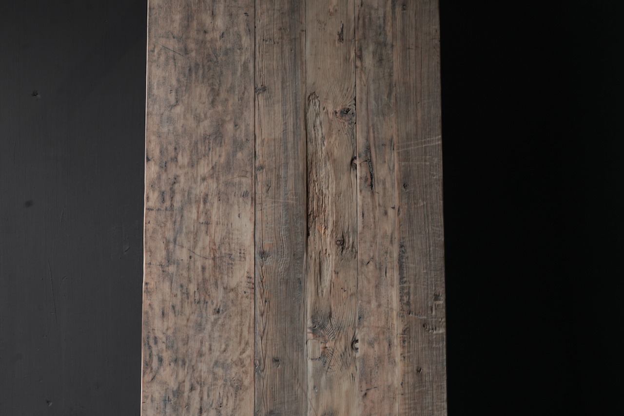 Old authentic wooden Coffee table with drawers-9