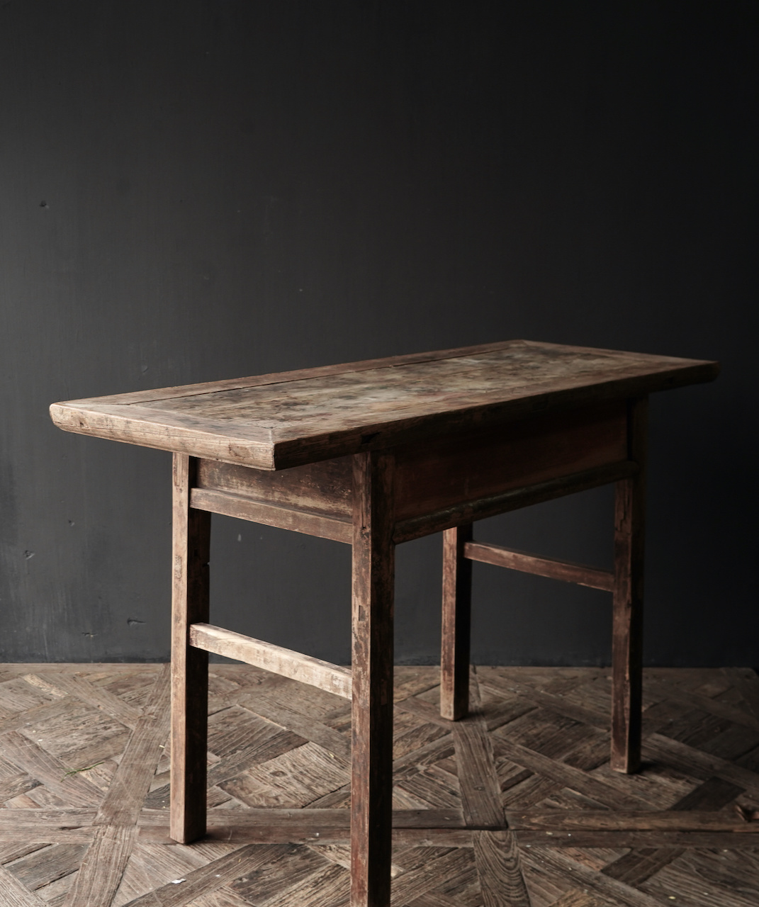 Authentic Sidetable or wall table with a drawer-3