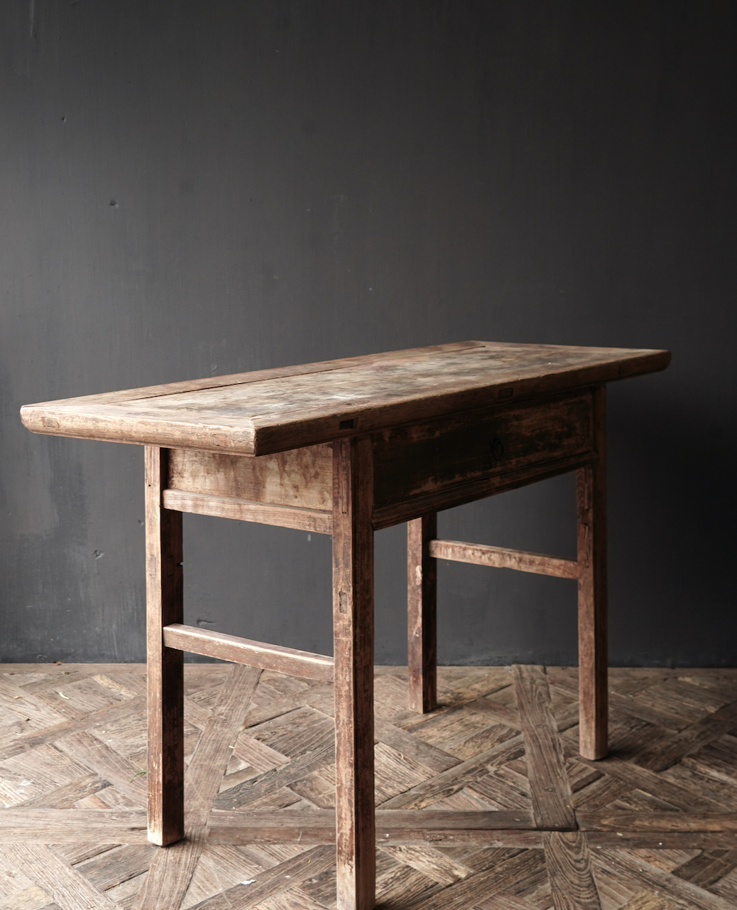 Authentic Sidetable or wall table with a drawer-4
