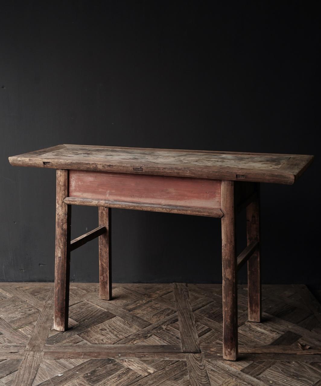 Authentieke Sidetable oftewel muurtafel met een lade-6