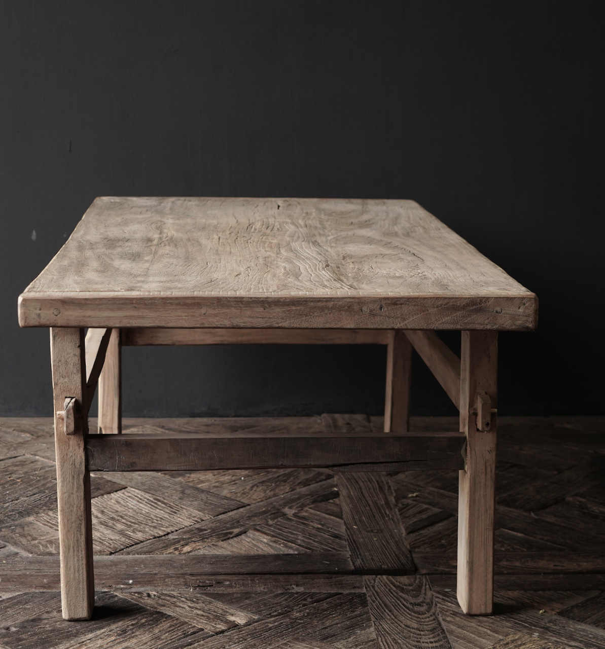 Old authentic wooden coffee table-9