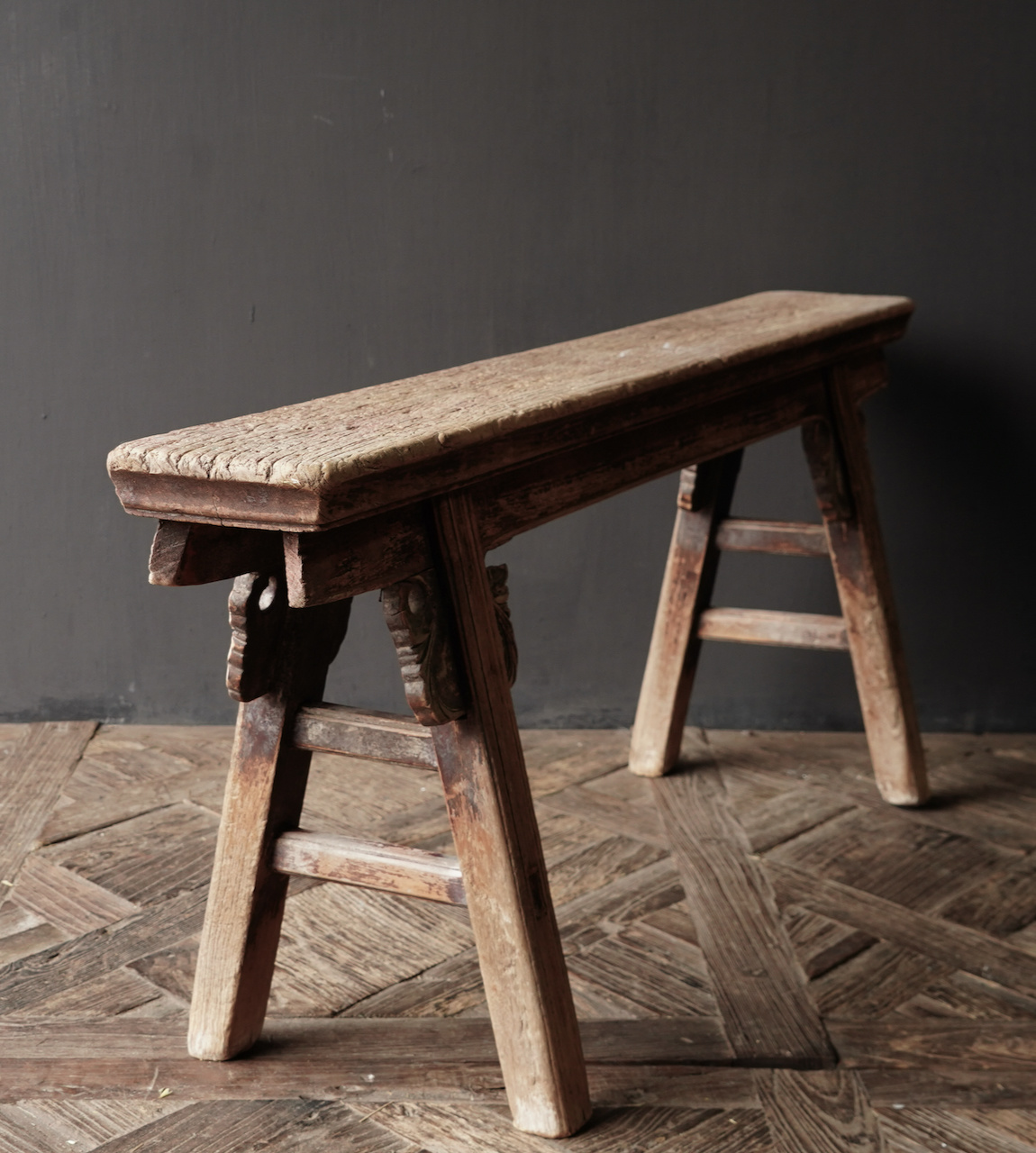 Authentic old wooden bench-6