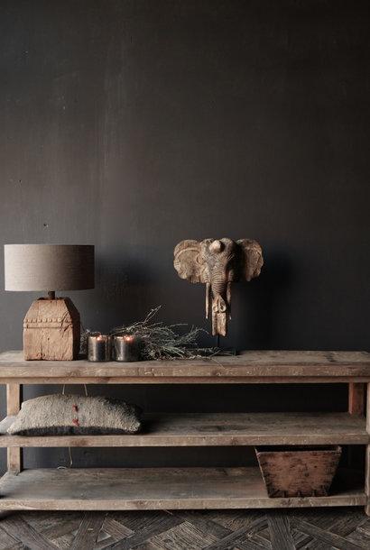 Gereserveerd  Tv meubel / muurtafel van oud gebruikt hout