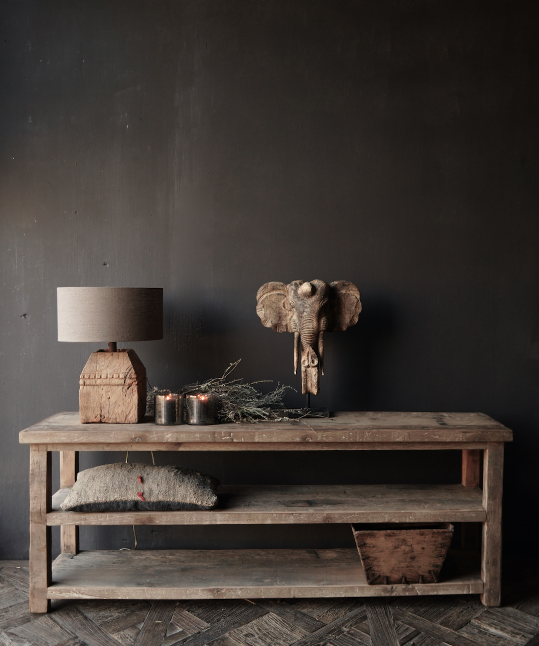 Reserved TV furniture / wall table made of old used wood-1