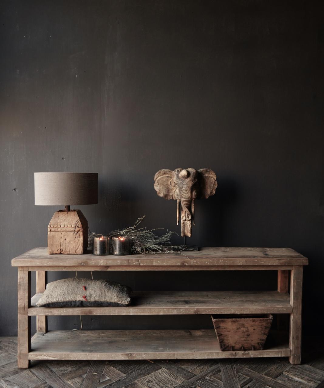 Reservierte TV-Möbel / Wandtisch aus altem gebrauchtem Holz-1